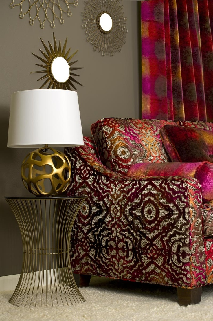 88 best images about stroheim s harris vervain fabrics for Pomegranate interior design decoration
