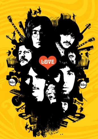 The Beatles - Love - Art Poster