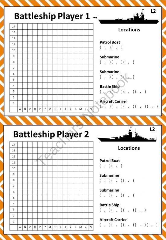 Battleship Game To Teach Coordinates Map Of Downtown « The ...