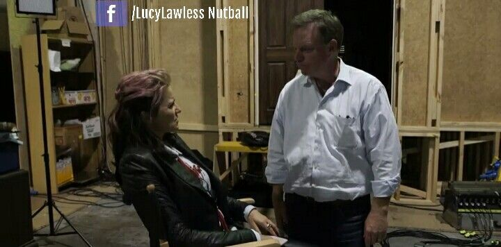 Lucy Lawless with producer and Husband Robert Tapert - Ash vs Evil Dead season 2