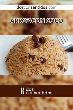 El arroz con coco es una preparación típica de la región pacífica y caribe de la costa Colombiana. Se acompaña normalmente con pescados fritos, también oriundos de estas regiones, y puede llevar patacón frito o alguna ensalada para dar un toque fresco.
