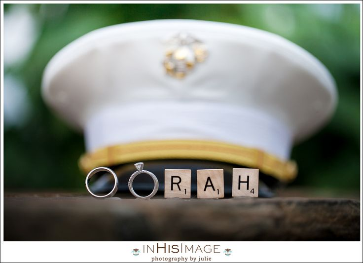 This is so clever. Oorah photo op for Marine Corps wedding.