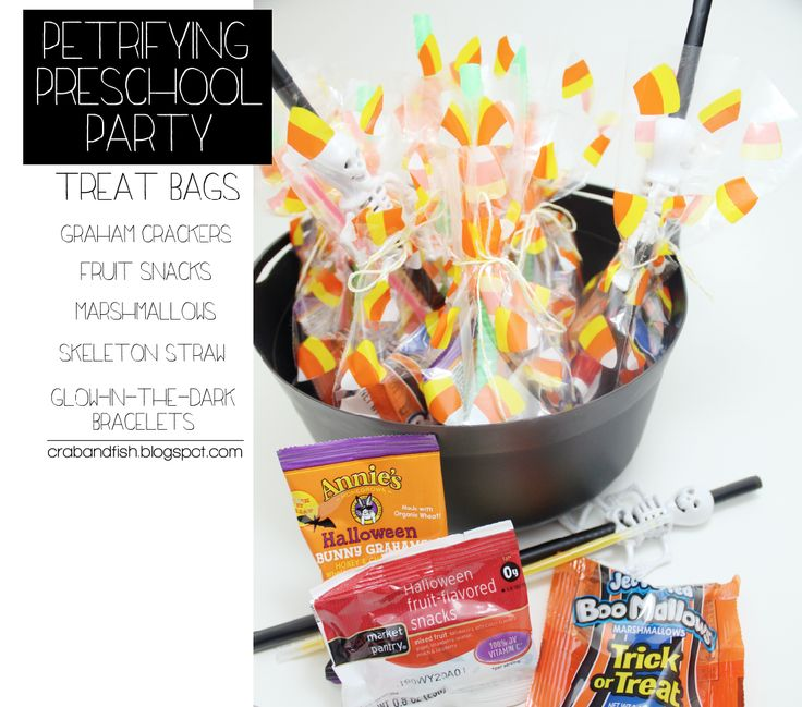 Petrifying Preschool Party #DIY #Halloween #treatbags