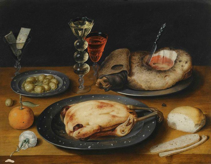 """""""Still Life of a Roast Chicken"""", pintura de Joseph (The Elder) Heintz         Benedita seguia feliz com sua rotina.     Ela fabricava cint..."""