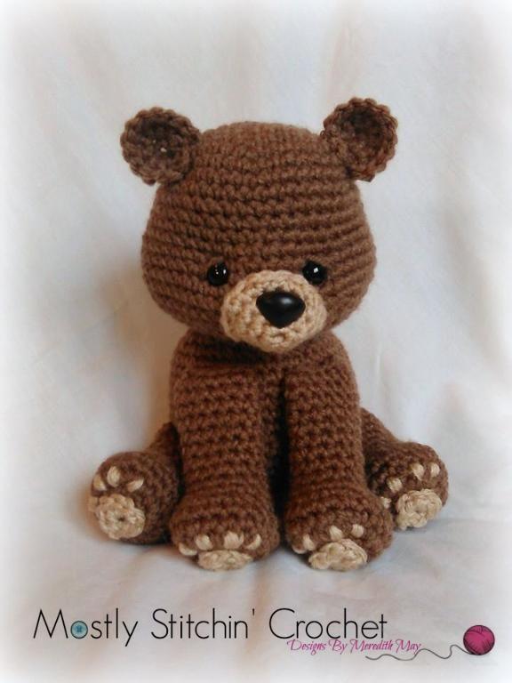 (4) Name: 'Crocheting : Bear Pattern; Black, Brown, Polar Bear                                                                                                                                                                                 More