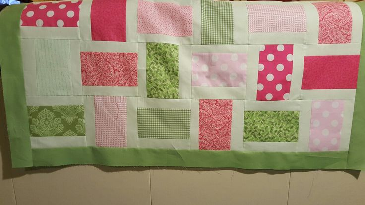 Apple Blossom Quilt top