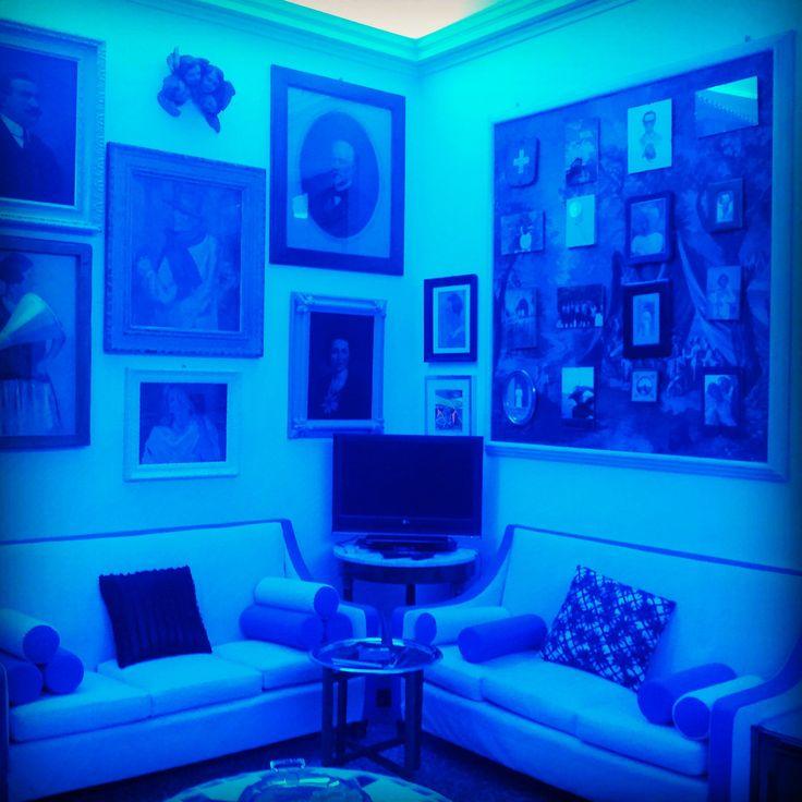 Blue interior Casa BERTAGNI Bologna PRINCE CHARMANT