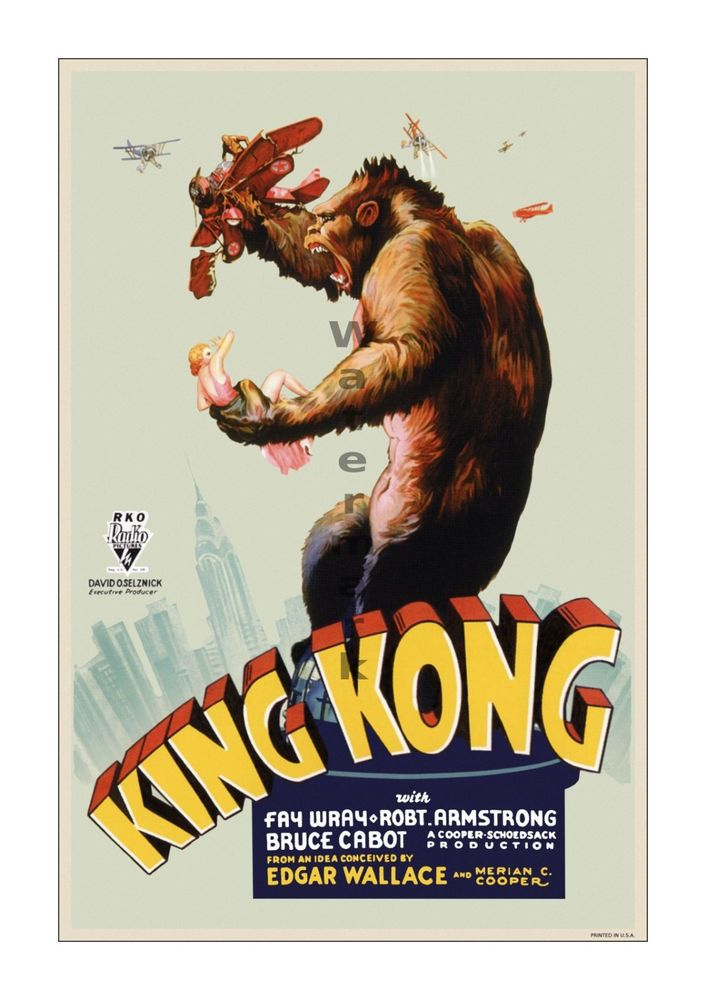King Kong #1 Vintage Film Movie Poster Lobby Card[6 sizes, matte+glossy avail] #Vintage