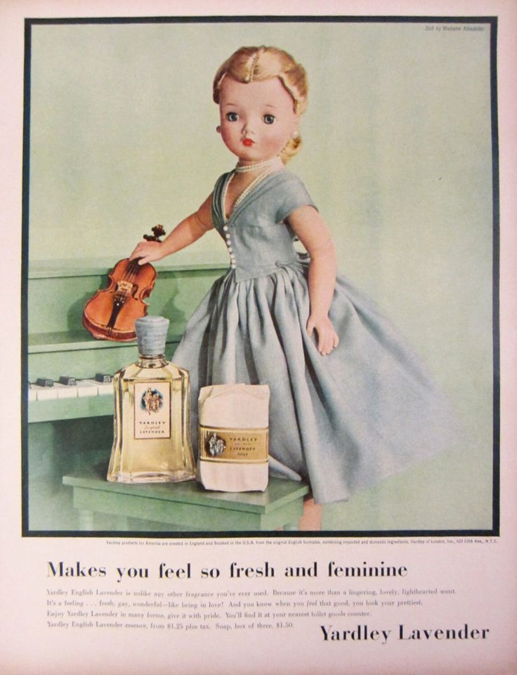 1956 yardley lavender fragrance vintage advertisement for Bathroom accessories ads