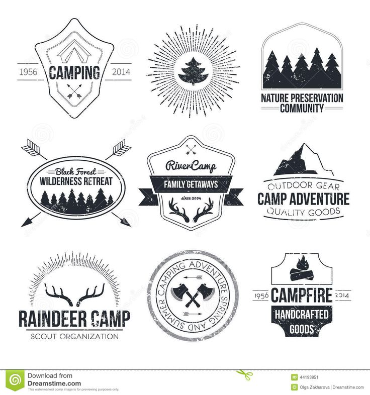 vintage summer camp LOGOS Google Search INSPIRES