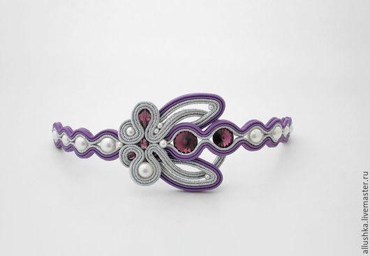 """Браслеты ручной работы. Ярмарка Мастеров - ручная работа. Купить Сутажный браслет  """"Сэй"""". Handmade. Сиреневый, бисер, bracelet, подарок"""