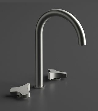 Beautiful faucet, clean and simple.