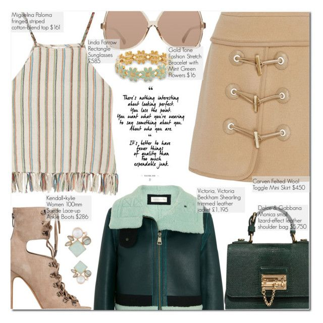 """Selalu Ada A dan B Yang Berbeda Tapi Saling Melengkapi"" by nindi-wijaya ❤ liked on Polyvore featuring Carven, Victoria, Victoria Beckham, Miguelina, Kendall + Kylie, Dolce&Gabbana, Linda Farrow, BillyTheTree, Atelier Mon, makefashioneasier and edisigalau"