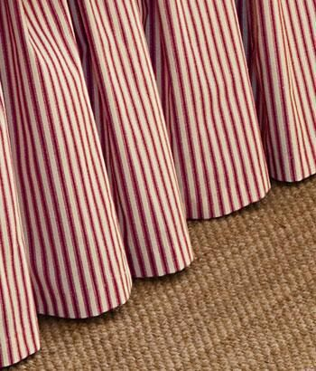 Ticking Stripes Gathered Dust Ruffle - Country Curtains®