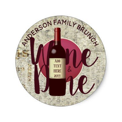 brunch wine and dine stickers personalized rustic brunch rustic bridal showers and bridal showers