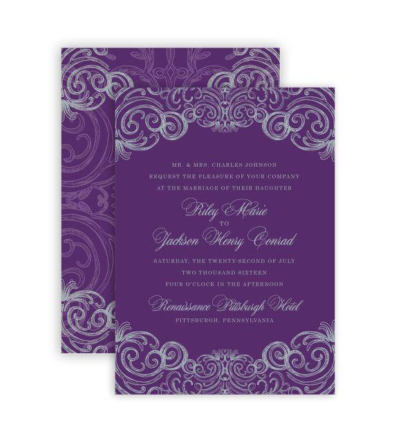 best 25+ plum wedding invitations ideas only on pinterest, Wedding invitations