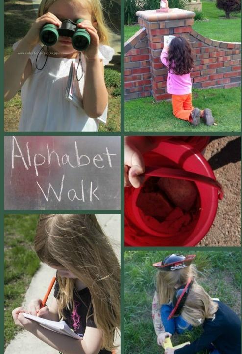 An Outdoor Alphabet Walk for Kids