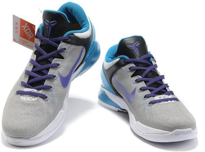 Nike Zoom Kobe 7 VII Grey/Purple/Blue, cheap Nike Kobe VII, If you want to  look Nike Zoom Kobe 7 VII Grey/Purple/Blue, you can view the Nike Kobe VII  ...
