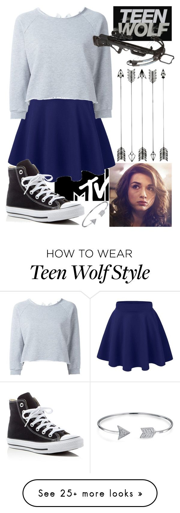 """""""Day 61: Allison Argent"""" by jordanisfabulous on Polyvore featuring Gaëlle Bonheur, Converse, Bling Jewelry and 100daysofpolyvore"""