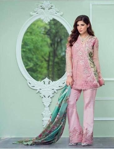 Crimson Chiffon Suit - Replica Suits - diKHAWA Online Shopping in Pakistan