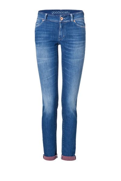 Womens Slim Jeans - Harrow Red Back - Goodsociety   - 1