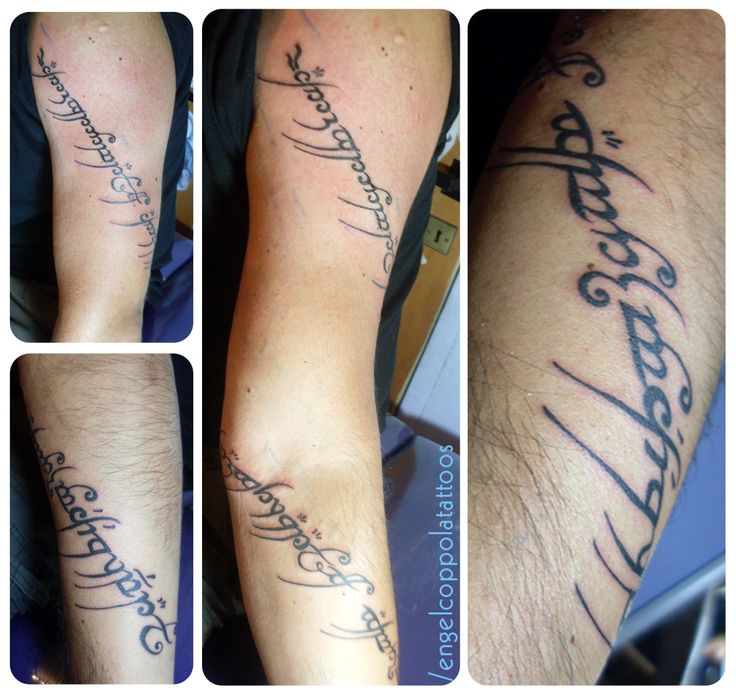 #tattoo #tatuaje #LotR #LordoftheRings #lettering #ring