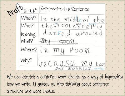 Mrs Vs Grade One: STRETCH A SENTENCE