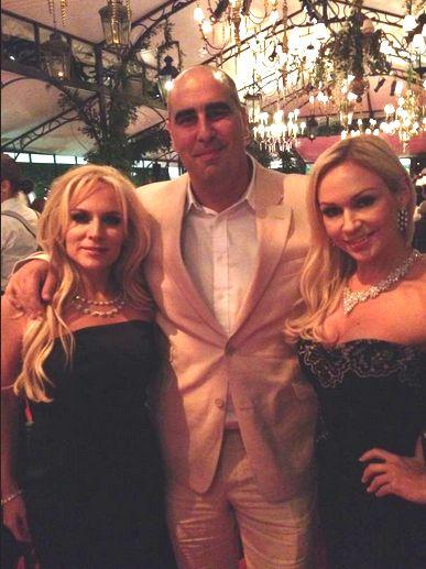 Stacey Jackson, Vashi Dominguez and Kristina Rihanoff at Elton John's party  #celebs #diamonds #jewellery #redcarpet