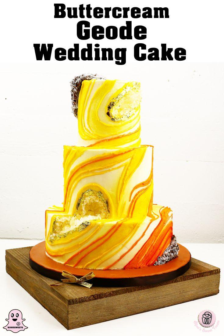 Buttercream Geode Wedding cake.  Non traditional wedding cakes from Bijou's Sweet Treats Bakery in Luray Va. Specialty wedding cakes for Luray, Front Royal , Harrisonburg , Sperryville , Warrenton , Shenandoah Valley . #rusticwedding #elegantwedding #countrywedding #farmwedding #barnwedding #chicwedding  #bridestyle #sugarart #cakeart #weddingideas #weddingblog #cakedesign #vintagewedding #weddingcakes #buttercreamcake #geodo #eventplanning #partyplanning #gardenwedding #summerwedding