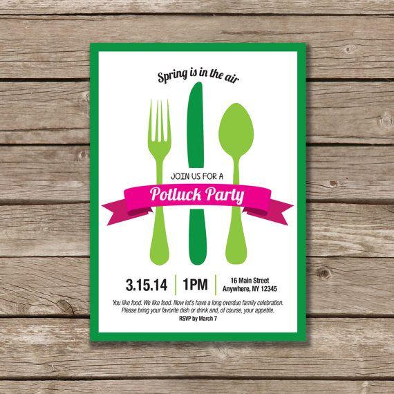 Potluck Party Potluck Invitation Printable Made by CollarCreative