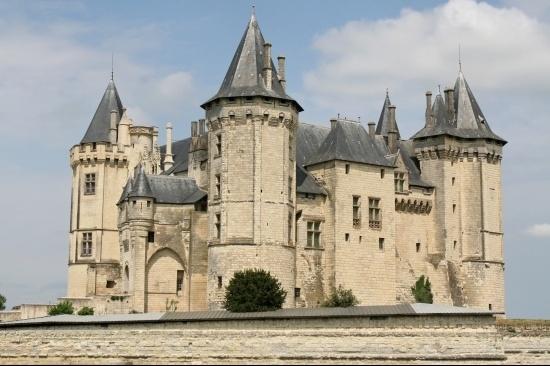 Château de Chinon, situé sur la commune de Chinon, Indre-et-Loire, région Centre, France.