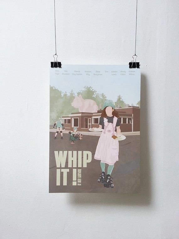 Whip it  Movie Print  Poster Drew Barrymore A3 by MinusculeMotion