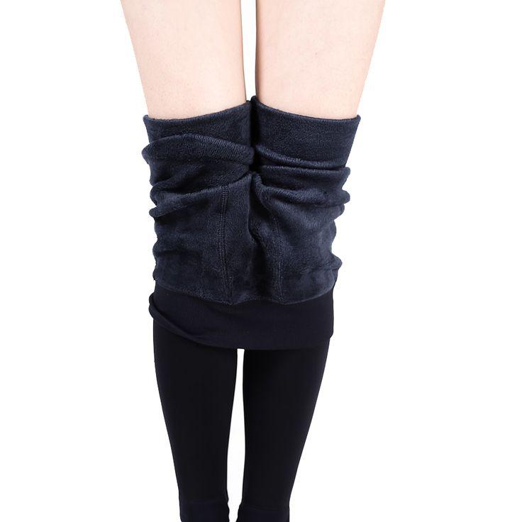 トレンドニット送料無料熱い販売2016冬の新しい高弾性厚みのレギンス暖かいパンツスキニーパンツ用女性