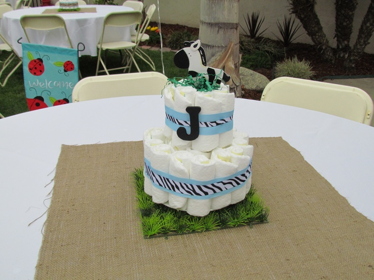 jungle themed diaper cakes
