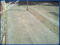 płyty granitowe szare Strzegom, kostka surowo-łupana szaro-żółta 4/6 cm