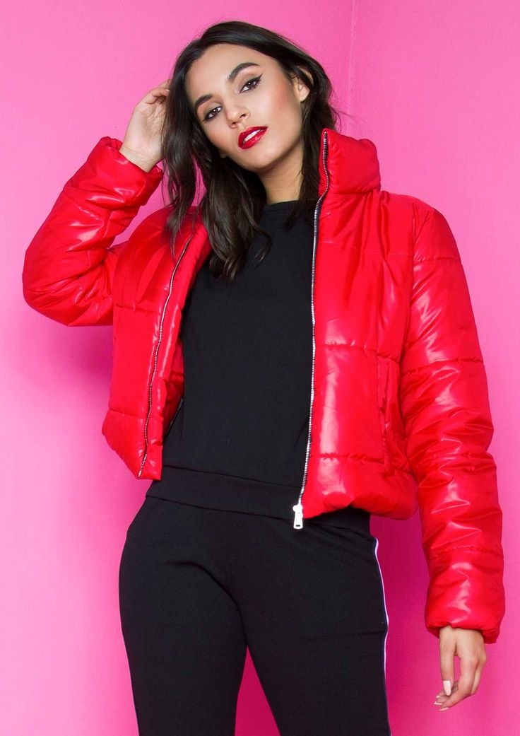 Orla Red Cropped Puffer Coat