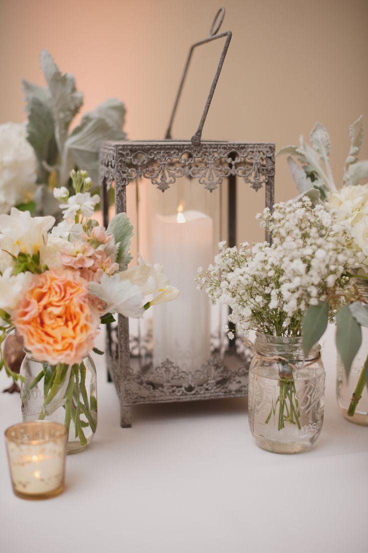 Pink, Peach, & White Wedding, Birdcage Centerpiece http ...