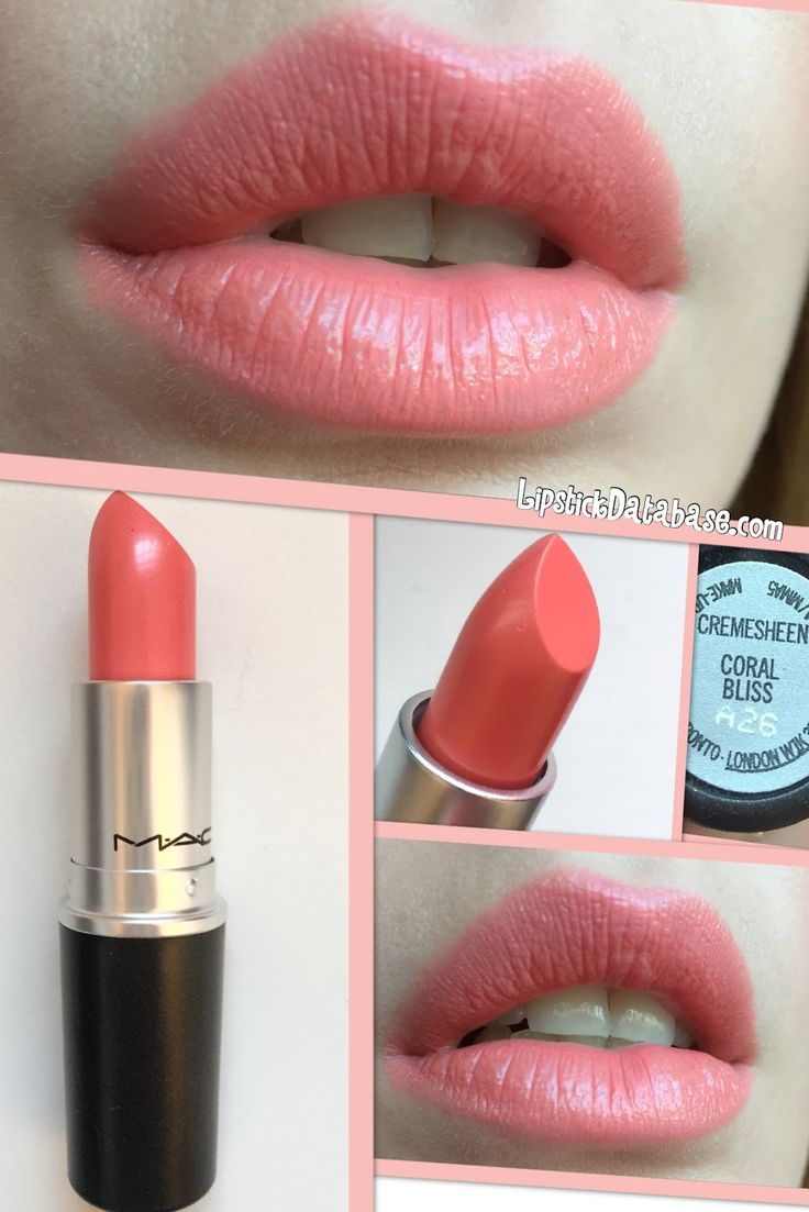 The Lipstick Database: MAC Cremesheen lipstick in Coral Bliss - full review at www.LipstickDatab...