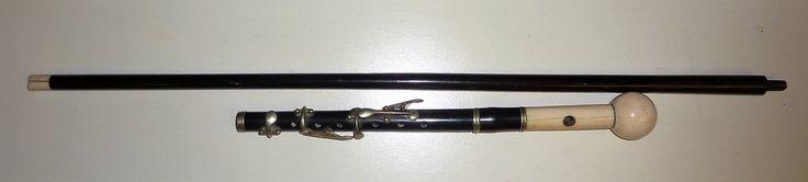 antique walking stick Worthing piccolo / flute | eBay Flauto traverso da passeggio
