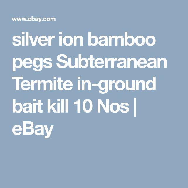 silver ion bamboo pegs Subterranean Termite in-ground bait kill 10 Nos  | eBay
