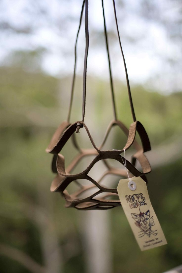 Leather plant hanger Regular Wildcat: I am currently in production of these...