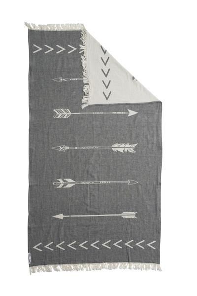 This gorgeous limited edition Arrow Öteki KNOTTY flat weave towel, is the newest design in the Oteki range. 100% Turkish cotton in reversible natural & char