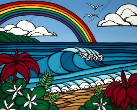 The Surf Art of Heather Brown: No Rain, No Rainbows! Tropical ...