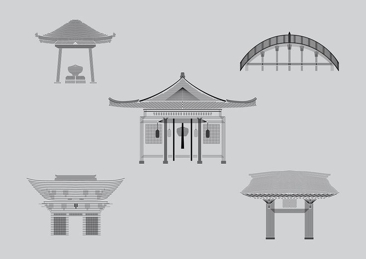 Japanese Temple Stripe Drawings on Behance