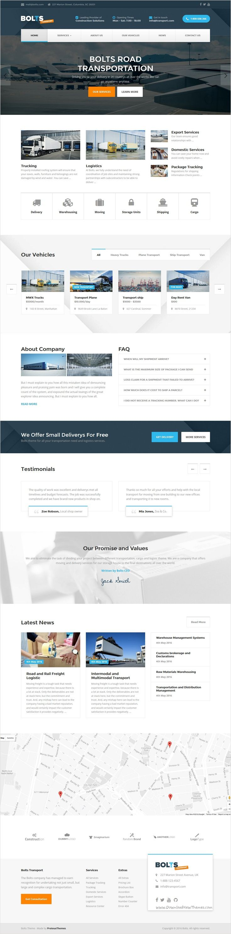 Bolts transport is a perfect responsive #HTML theme for #Transportation, freight, trucking, #logistics businesses, shipping or package delivery company website download now➩ https://themeforest.net/item/bolts-transport-transportfreight-business-template/18312156?ref=Datasata