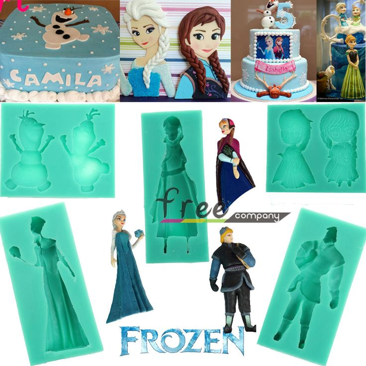 Disney Frozen Elsa Anna Olaf Fondant Cake Paste Candy Decorating Silicone Mold in Cake Decorating Supplies | eBay