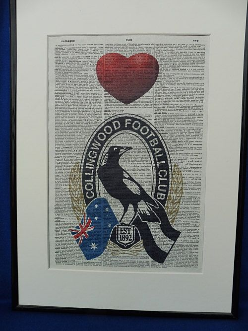 Collingwood AFL Football Team Wall Art Print by DecorisDesigns