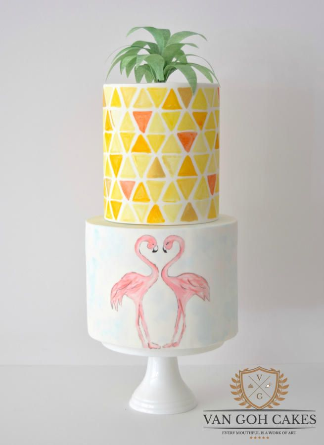Flamingo Springs - Cake by Van Goh Cakes