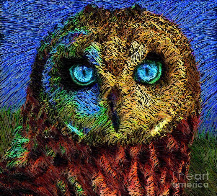 Rafael Salazar Digital Art - Owl by Rafael Salazar