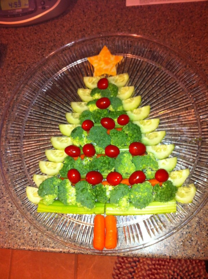 55 best christmas vegetables images on pinterest - Christmas tree shaped appetizers ...